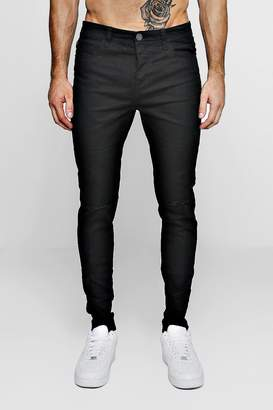 boohoo Black Stretch Skinny Jeans With Ripped Knees