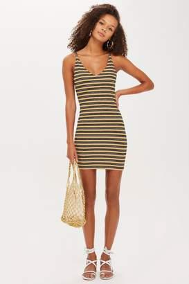 Topshop Womens Petite Lurex Stripe Bodycon - Multi