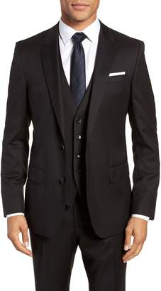 BOSS Hayes CYL Trim Fit Solid Wool Sport Coat