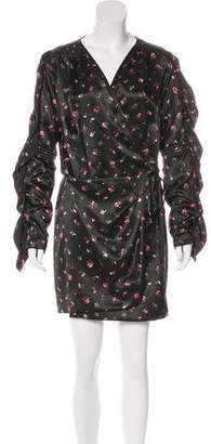 ATTICO Silk Printed Dress