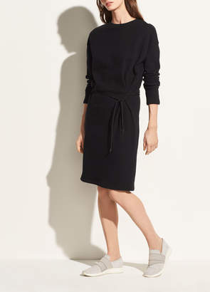 Long Sleeve Cinched Waist Dress