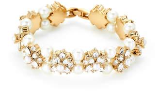 Marchesa Gold-Tone Bijou Blossom Flexible Bracelet