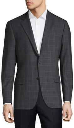 Hickey Freeman Milburn Ii Checkered Wool Jacket