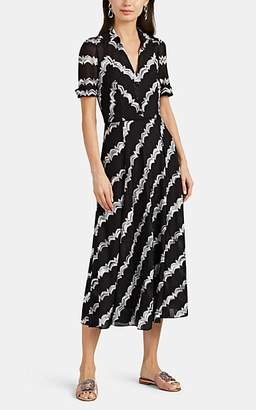 Missoni Women's Zigzag-Striped Mixed-Knit Dress - Wht.&blk.