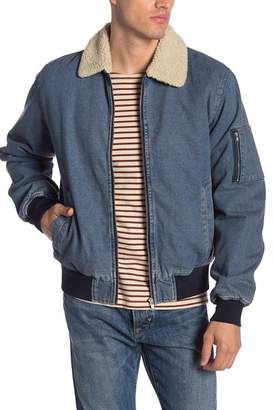 Wesc Faux Shearling Denim Lumber Jacket