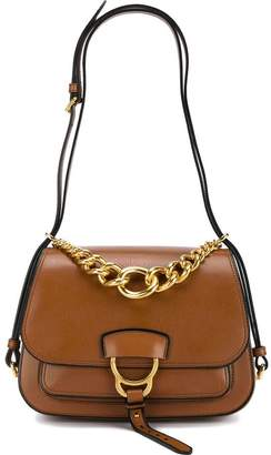 Miu Miu Brown Dahlia leather shoulder bag