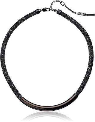 Kenneth Cole New York Hematite Items Hematite Frontal Bar with Mesh Tube Choker Necklace