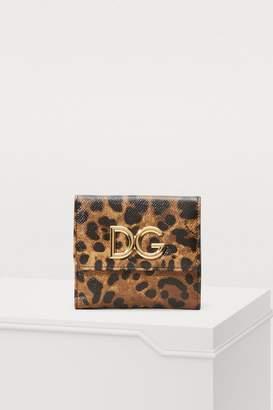 Dolce & Gabbana Leopard mini flap wallet