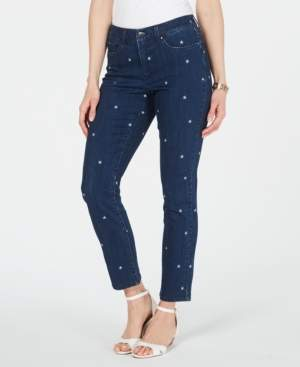 Charter Club Embroidered Bristol Skinny Ankle Jeans, Created for Macy's