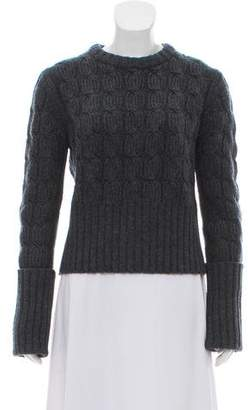 Michael Kors Merino Wool & Cashmere-Blend Cable Knit Sweater