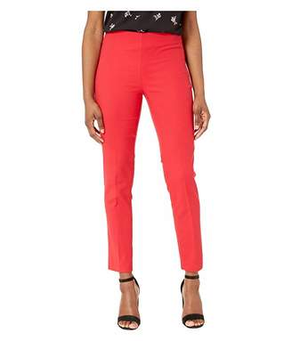 Vince Camuto Specialty Size Petite Double Weave Side Zip Vented Hem Pants