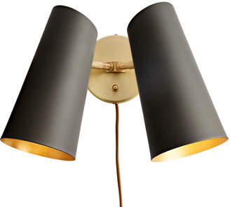 Rejuvenation Cypress Double Sconce Plug-In