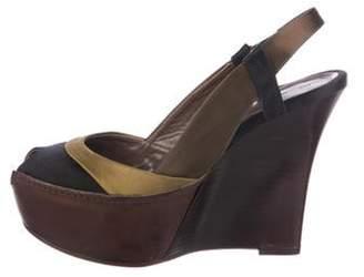 Marni Platform Slingback Sandals Black Platform Slingback Sandals