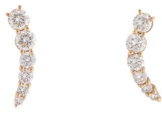 Anita Ko 18K Diamond Small Floating Stud Earrings