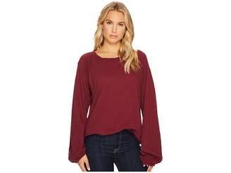 Heather Mia Cotton Slub Slouchy Sleeve Pullover Women's Clothing