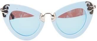 Preen by Thornton Bregazzi Blue Plastic Sunglasses