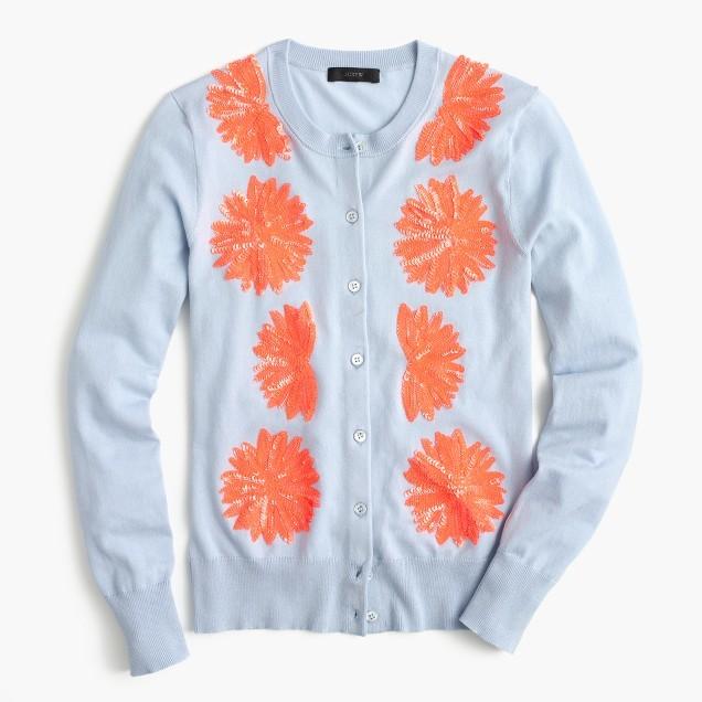 Embellished cotton Jackie cardigan sweater