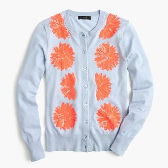 Embellished cotton Jackie cardigan sweater $98 thestylecure.com
