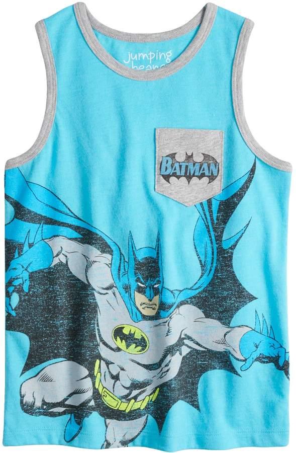 Boys 4-10 Jumping Beans DC Comics Batman Pocket Graphic Tank Top