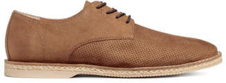 H&M Perforated-pattern Derby Shoes - Beige