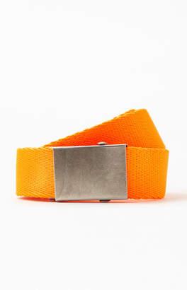 PacSun Neon Orange Webbed Belt