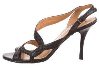 Lanvin Leather Ankle Strap Sandals