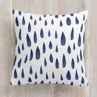 Raindrops Anew Square Pillow