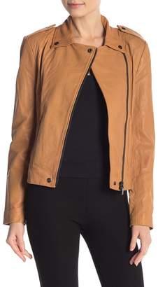Badgley Mischka Maya Washed Lamb Leather Jacket