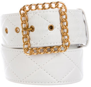ChanelChanel Quilted Chain-Link Belt