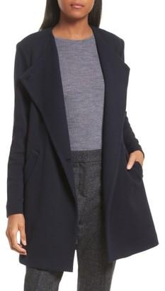 Women's Theory Nyma Cortina Asymmetrical Coat $595 thestylecure.com