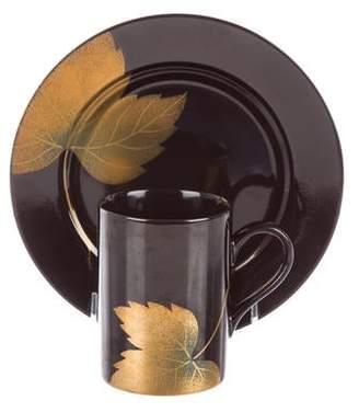 Fitz & Floyd 16-Piece Golden Leaf Partial Tableware Set