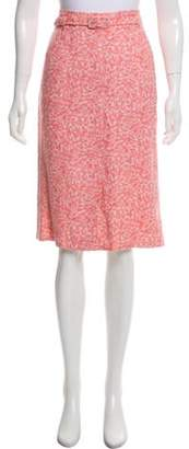 Marc Jacobs Belt-Accented Pencil Skirt Pink Belt-Accented Pencil Skirt