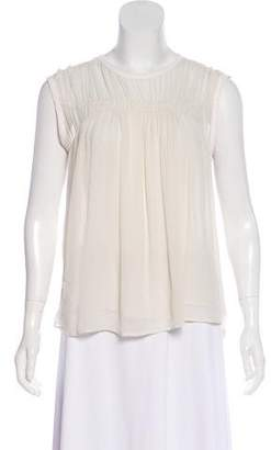 Clu Silk-Trimmed Sleeveless Top