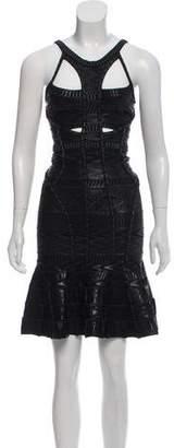 Herve Leger Evelina Embellished Dress