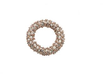 Alexis Bittar Rose Gold Tone Pave Ring Slide
