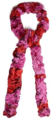 Missoni Skinny Fine Knit Bi Colour Scarf - Womens - Pink