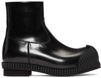 Calvin Klein Black Patent Deicine Boots