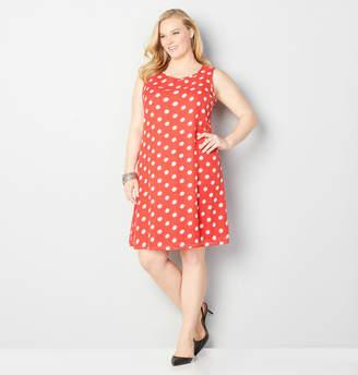 Avenue Polka Dot A-Line Dress