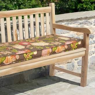 """Mozaic P. Kaufmann 48"""" x 19"""" Floral Outdoor Bench Cushion"""