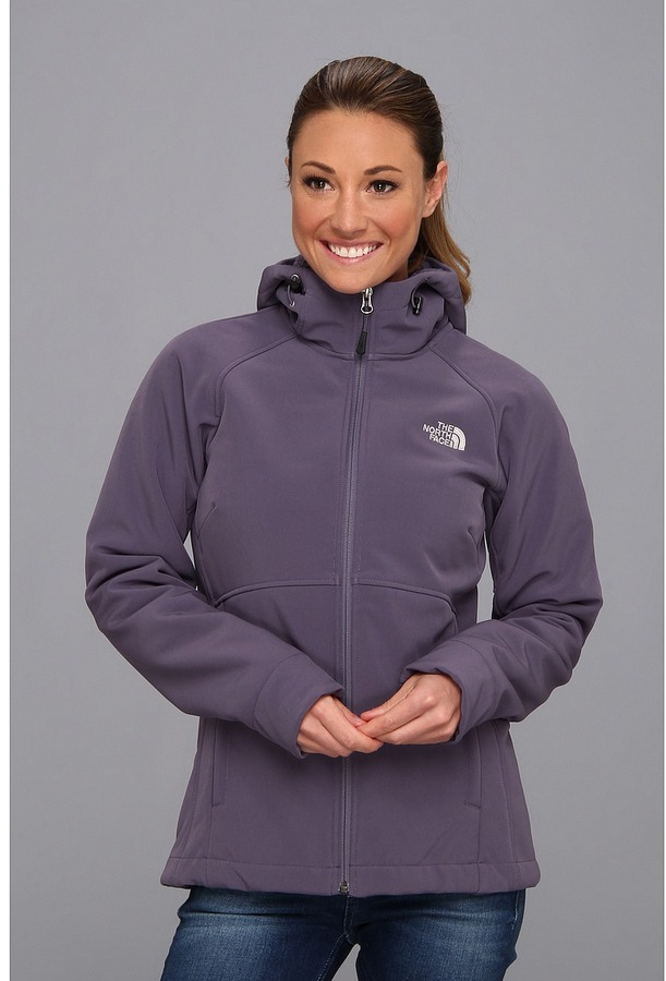 The North Face Powerdome Hoodie (Greystone Blue) Women's Coat