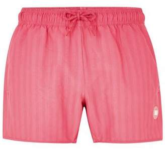 Topman Mens Pink Stripe Swim Shorts