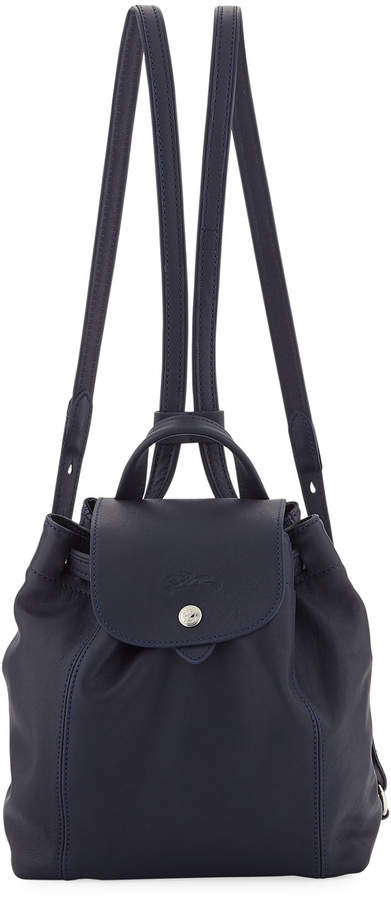 Longchamp Le Pliage Cuir XS Leather Backpack - NAVY - STYLE