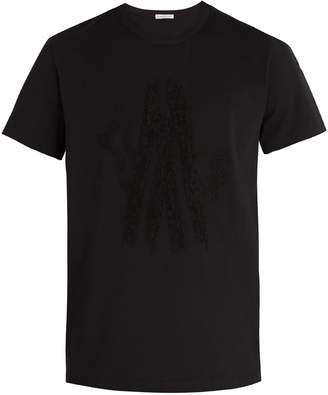 Moncler Loop-back logo-embroidered cotton T-shirt