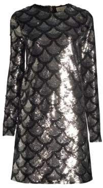 MICHAEL Michael Kors Scallop Sequin Shift Dress