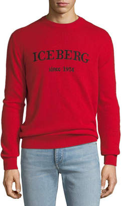 Iceberg Men's Cashmere Logo-Typographic Sweater