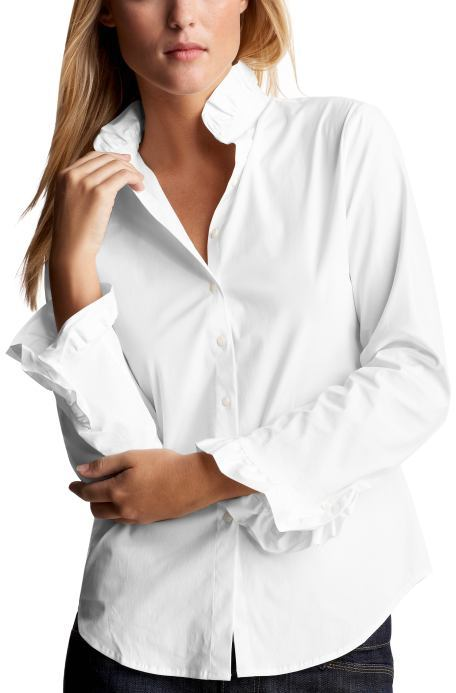 Ruffled collar shirt