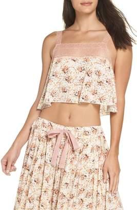 Free People Intimately FP Lovelorn Cropped Pajama Camisole