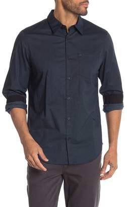 Calvin Klein Patterned Long Sleeve Regular Fit Shirt