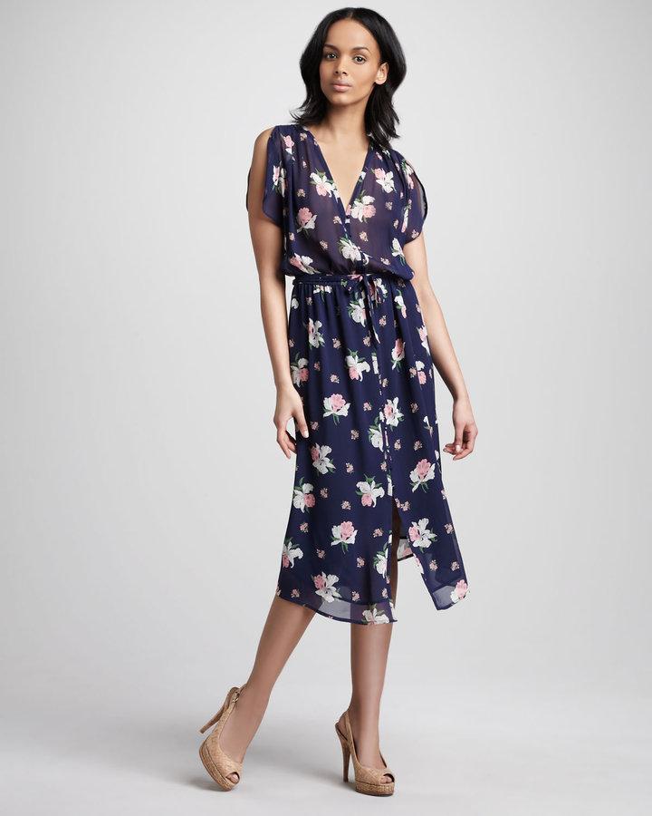 Joie Lunaria Floral-Print Dress
