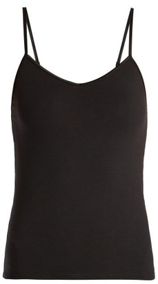 Bodas Pima Cotton Cami Top - Womens - Black